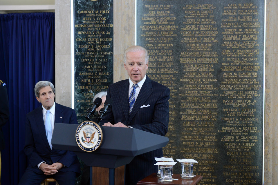 Vice President Biden Delivers Remarks at the AFSA Memorial Plaque Ceremony