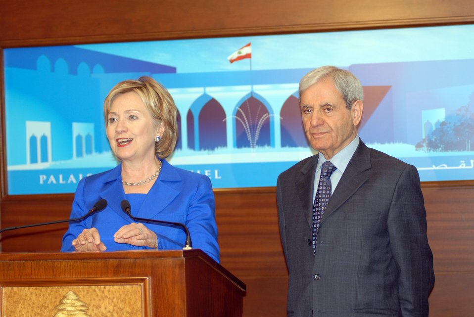 Secretary Clinton Meets With Lebanese Foreign Minister