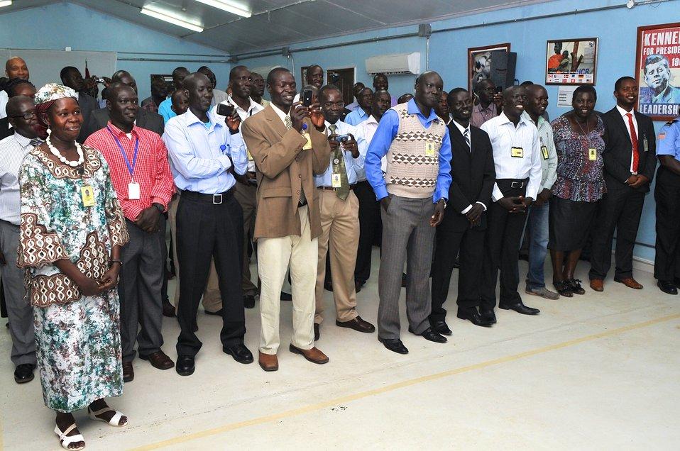 Embassy Juba Locally Hired Staff Applaud Secretary Kerry