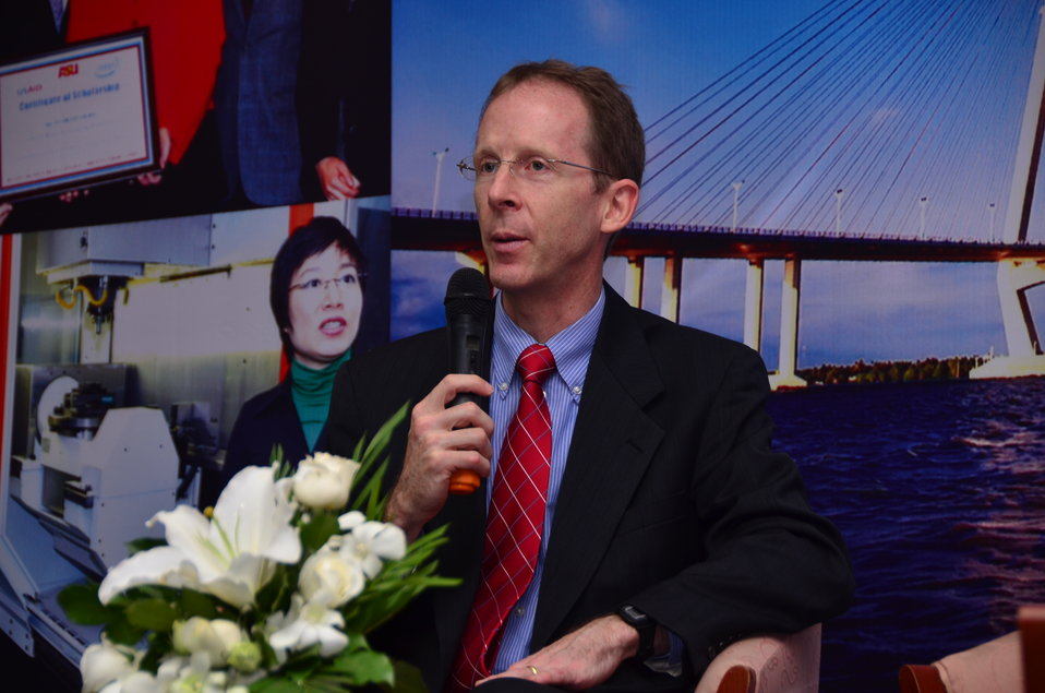 USAID Mission Director Joakim Parker speaks at the HEEAP Conference