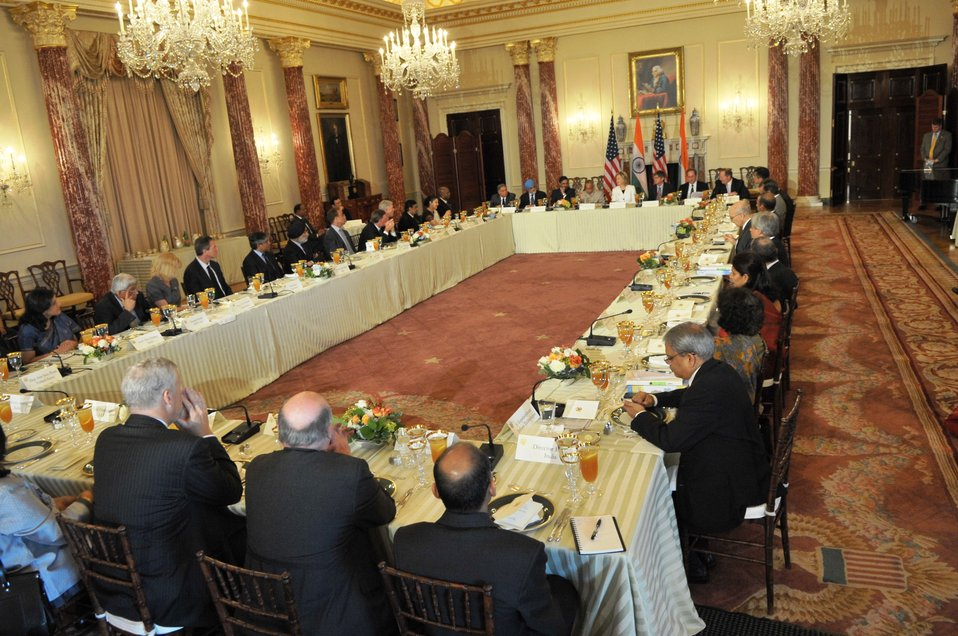 Secretary Clinton Attends U.S.-India CEO Luncheon