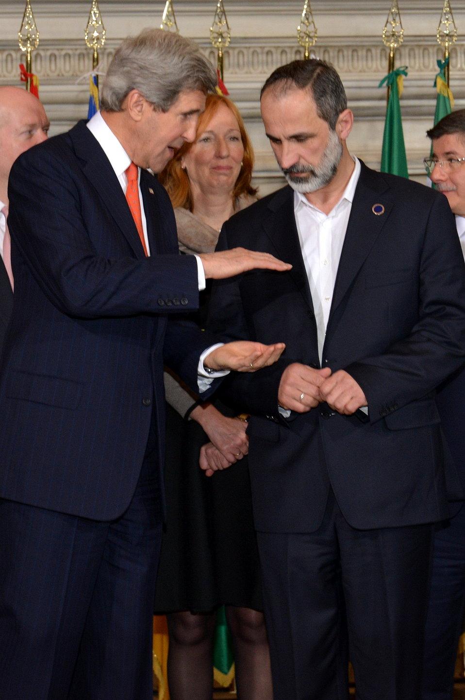 Secretary Kerry Speaks With Syrian Opposition Leader al-Khatib