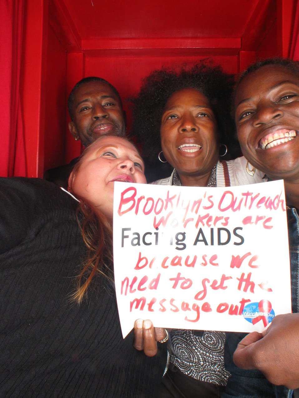 Brooklyn's outreach workers are Facing AIDS because we need to get the message out.