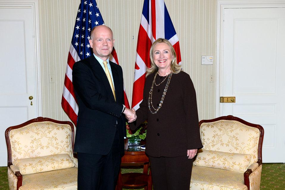 Secretary Clinton Meets With UK Foreign Secretary Hague