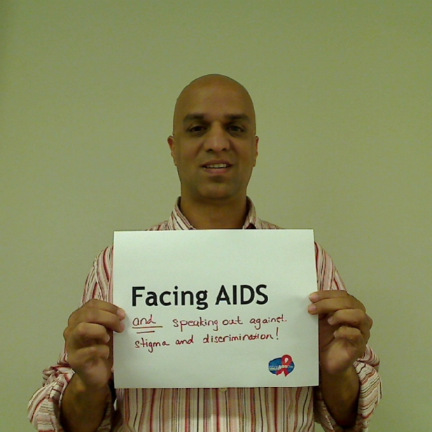 Facing AIDS and speaking out against stigma and discrimination!