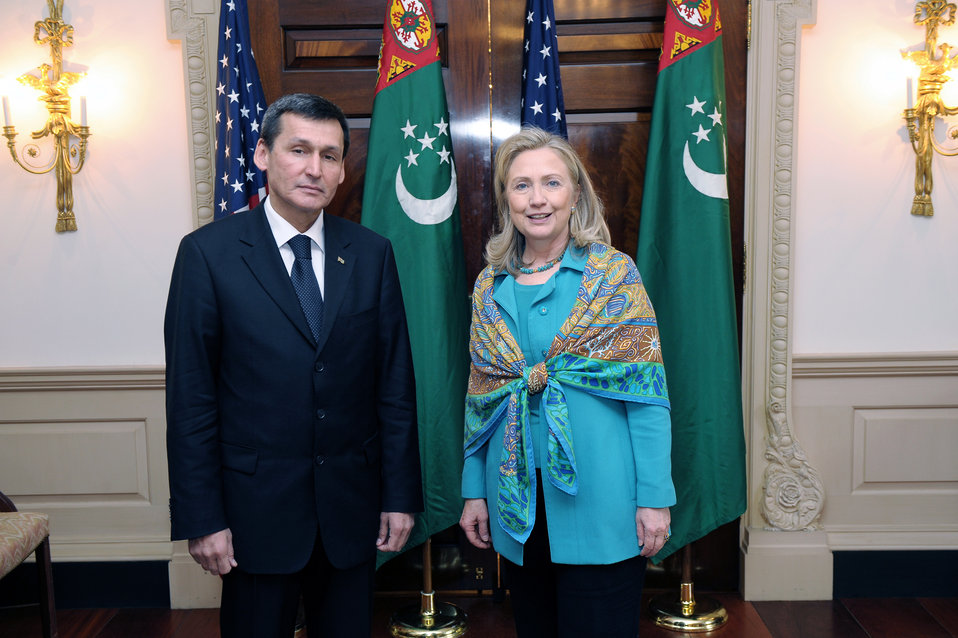 Secretary Clinton Meets With Turkmenistan Foreign Minister Meredov