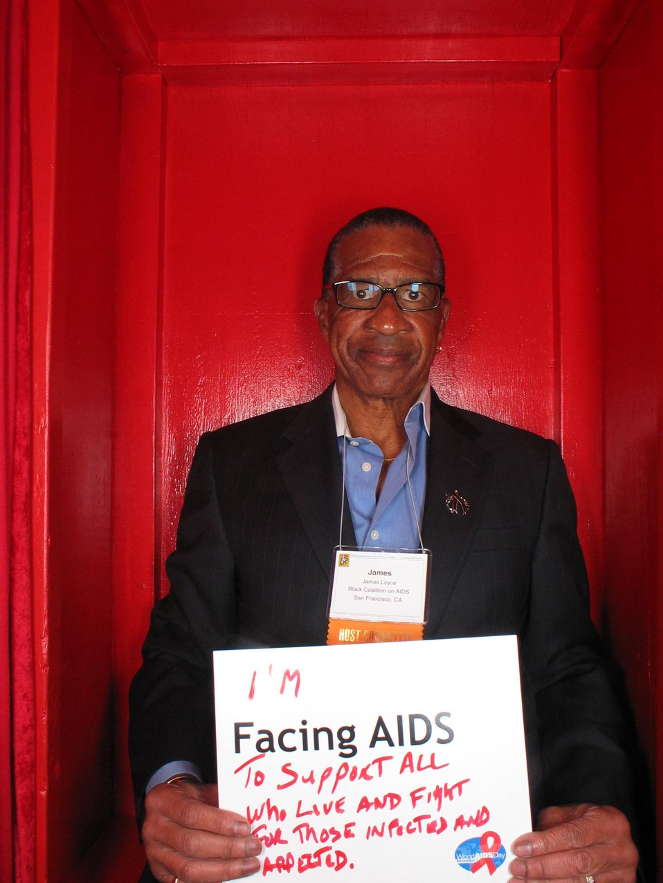 I'm Facing AIDS to support all who live and fight for those infected