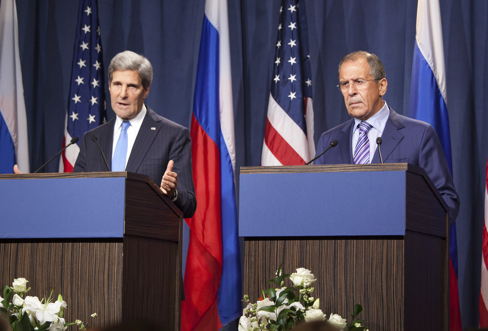Secretary Kerry and Russian Foreign Minister Lavrov Address Press in Geneva