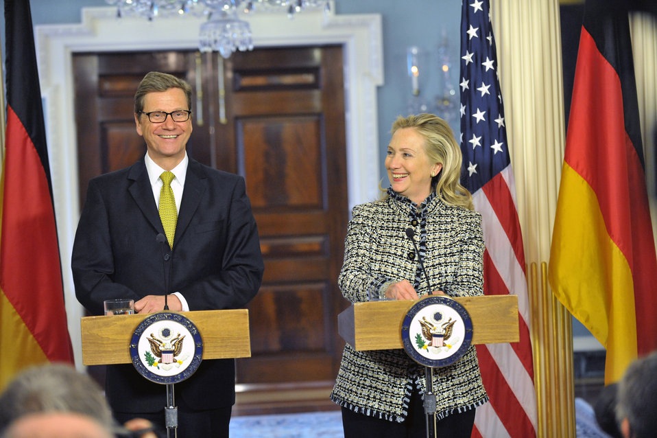 Secretary Clinton and German Foreign Minister Westerwelle Hold a Joint Press Conference