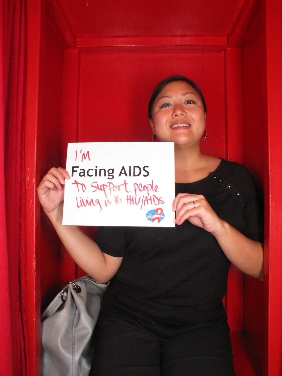 I'm Facing AIDS to support people living with HIV/AIDS.