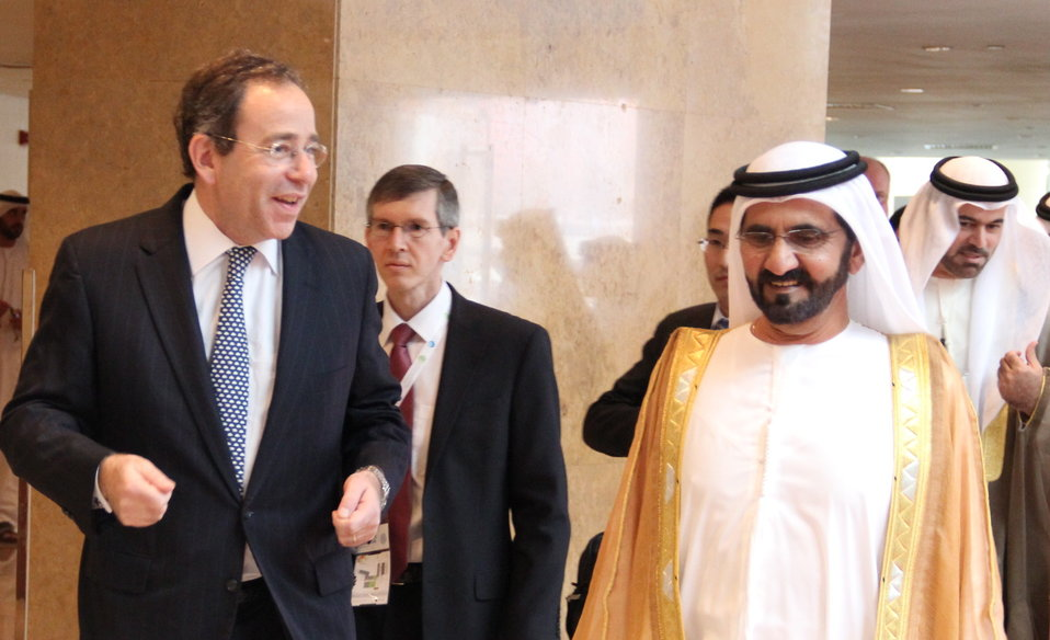 Deputy Secretary Nides Walks With the Ruler of Dubai