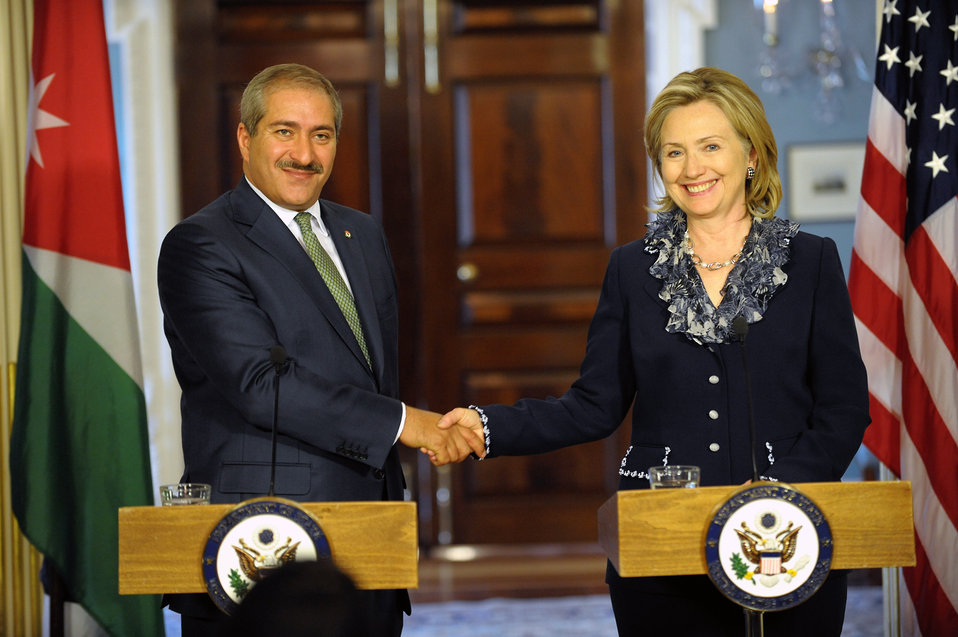 Secretary Clinton Holds a Press Avail With Jordanian Foreign Minister Judeh