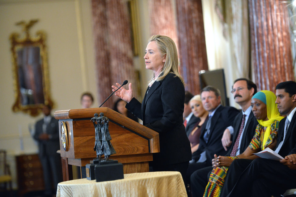 Secretary Clinton Delivers Remarks at the World Food Program-USA Awards Ceremony