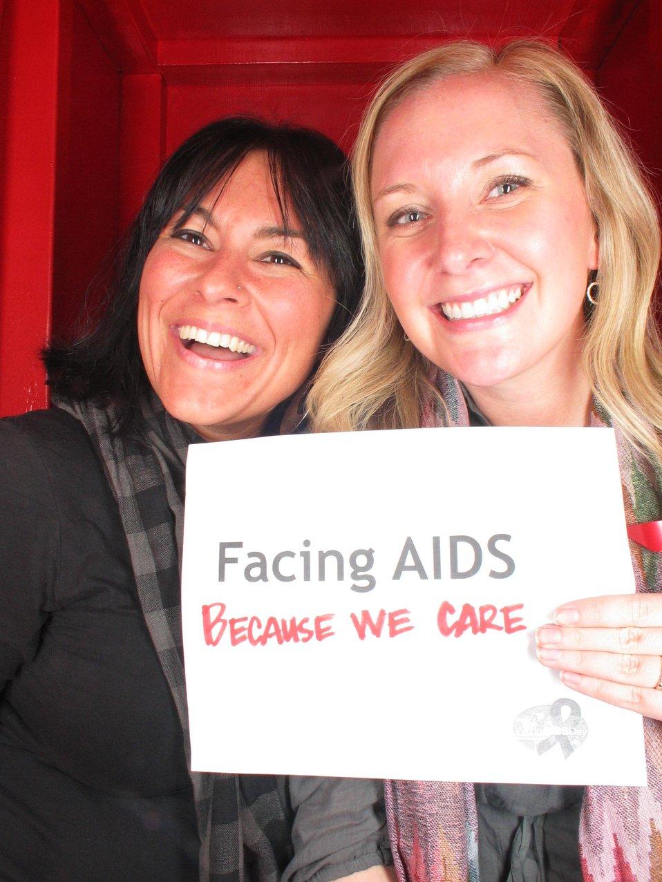 Facing AIDS because we care.