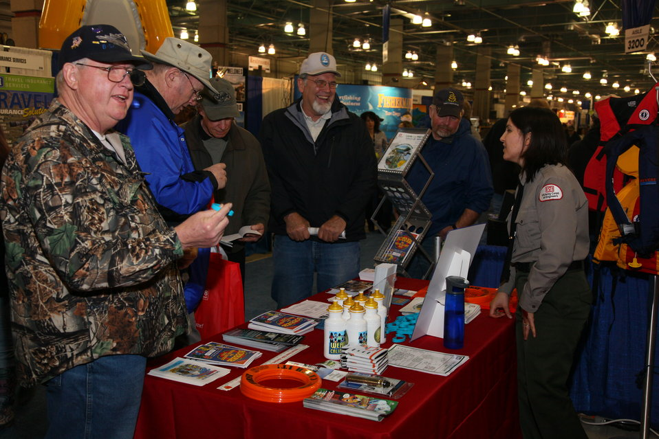 Corps park rangers promote water safety at the 2012 Sportsmen's Expo