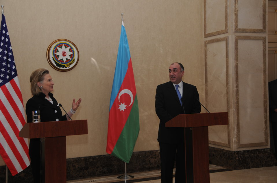 Secretary Clinton Responds to a Question at a Press Conference With Azerbaijani Foreign Minister Mammadyarov