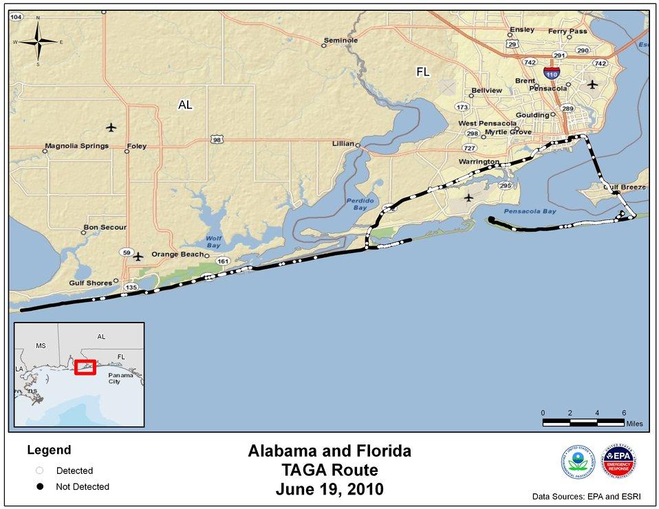 EPA TAGA Air Monitoring Locations June 19, 2010