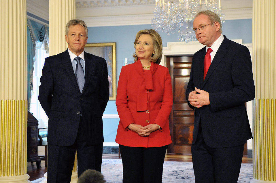 Secretary Clinton Meets With Northern Ireland First Minister Robinson and Deputy First Minister McGuinness