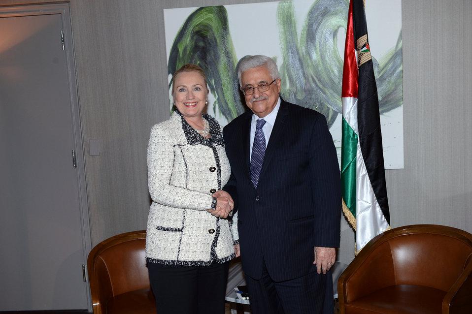 Secretary Clinton Meets With Palestinian Authority President Abbas