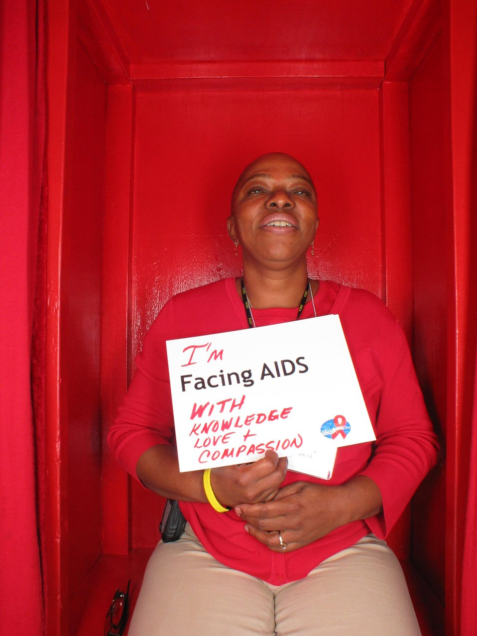 I'm Facing AIDS with knowledge, love and compassion.