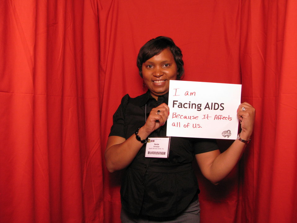 I am FACING AIDS because it affects all of us.