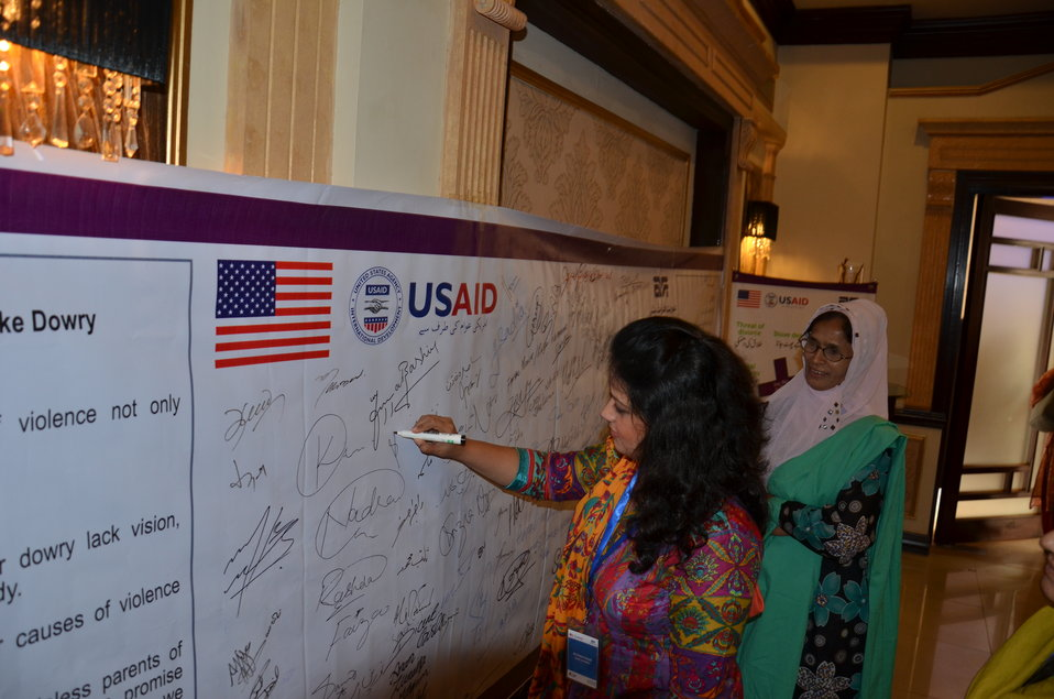 Grant Closing Meeting Under 4th Grant Cycle of USAID supported Gender Equity Program of Aurat Foundation at Marriott Hotel