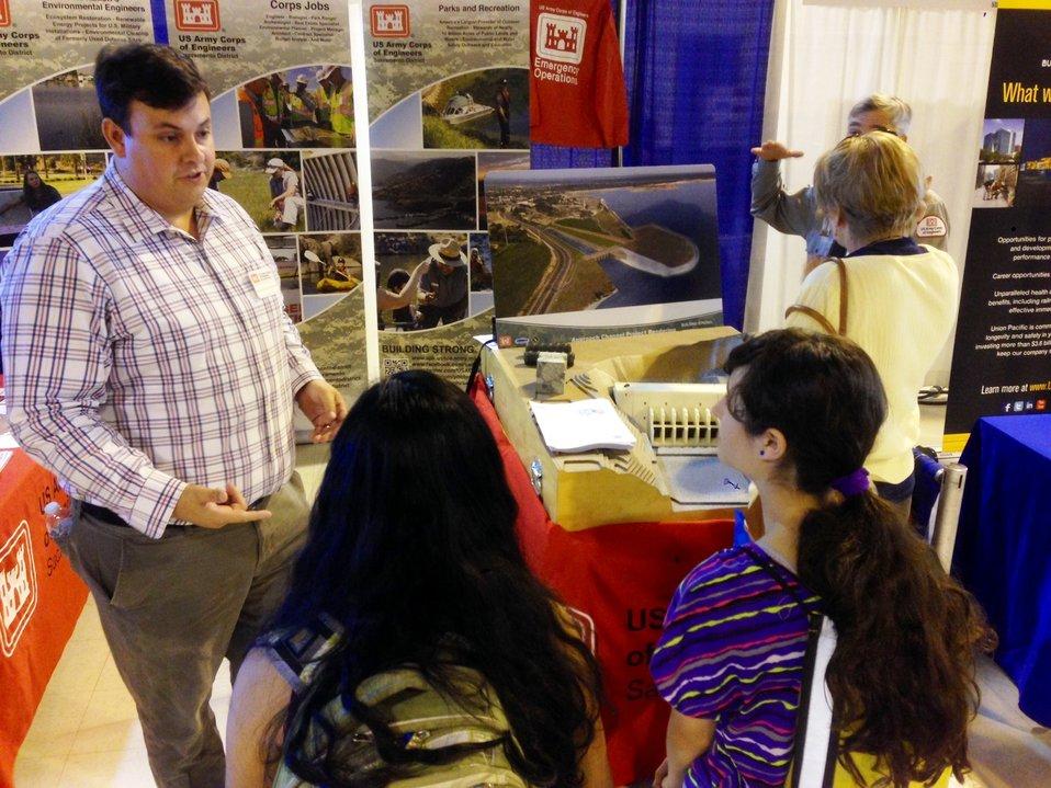 Matthew Valentine talks jobs at GPS Career Fair