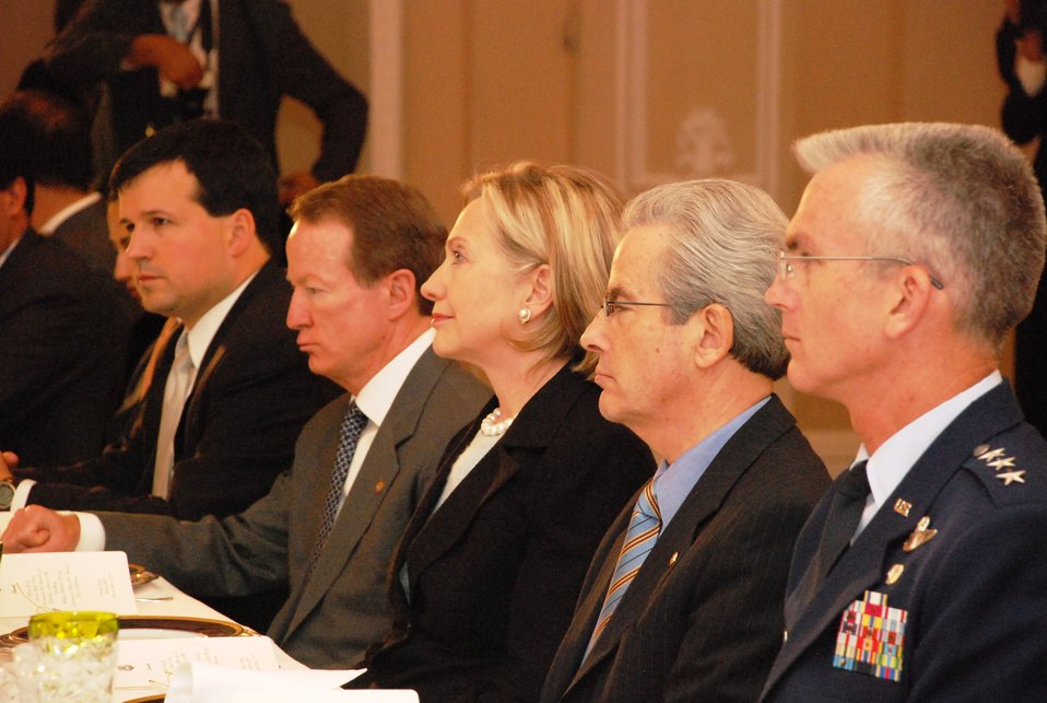 Secretary Clinton Attends Luncheon Hosted By Colombian President