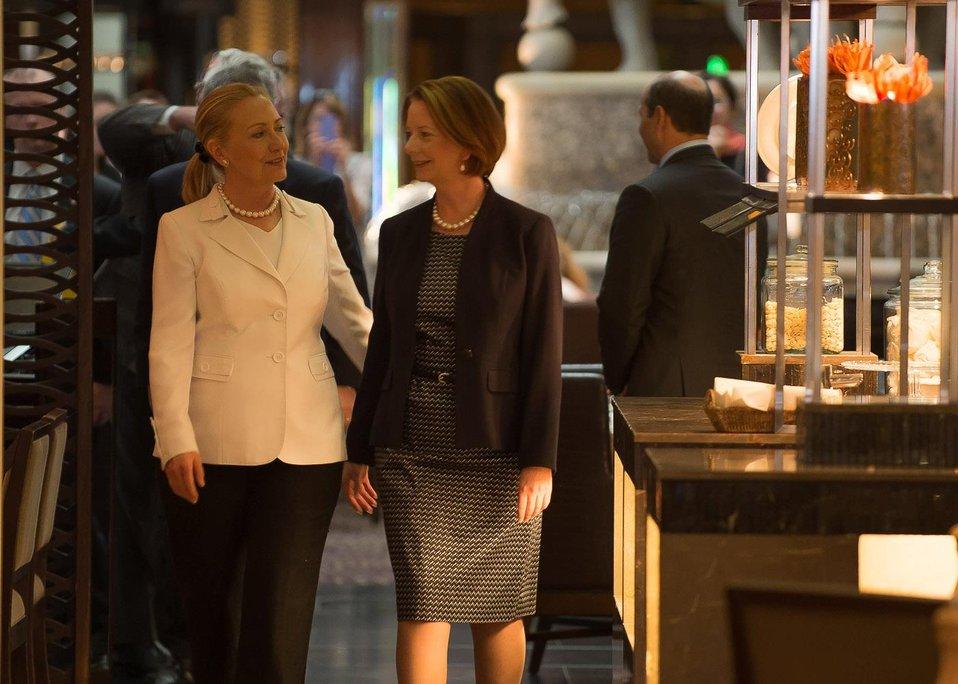 Secretary Clinton Meets With Australian Prime Minister Gillard
