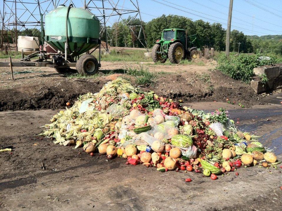 November 27, 2012, Food waste piles up too