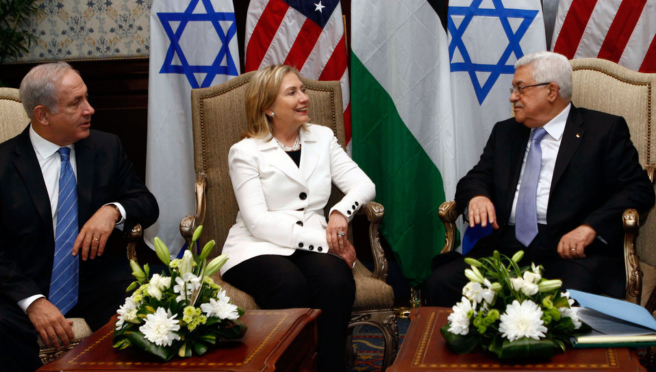 Secretary Clinton Hosts Talks Between Israeli Prime Minister Netanyahu and Palestinian President Abbas