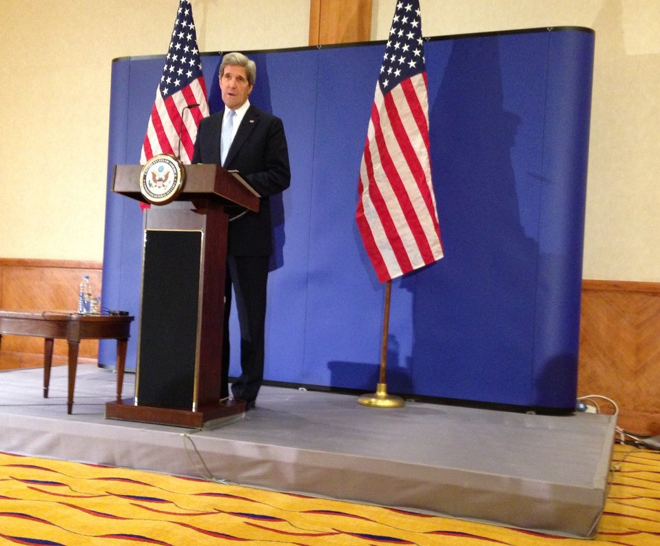 Secretary Kerry Delivers Remarks to the Press