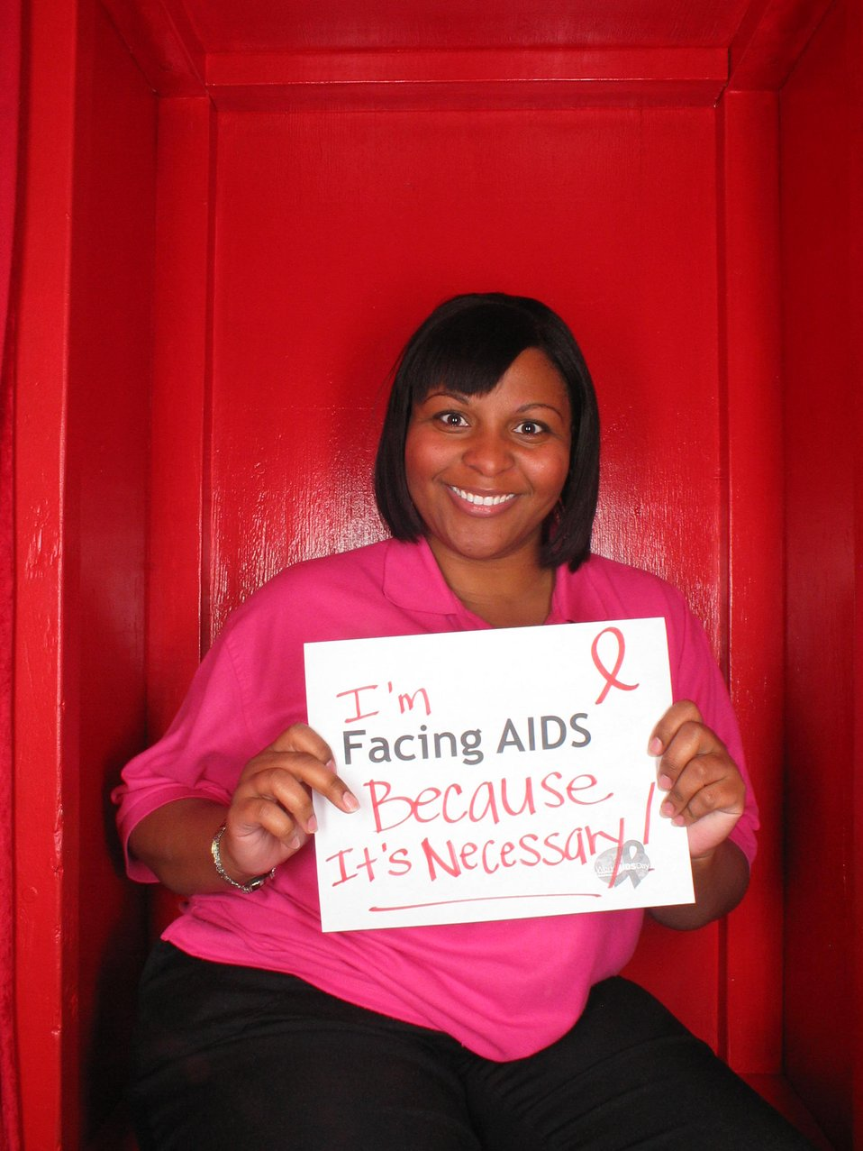 I'm facing Facing AIDS because its necessary!