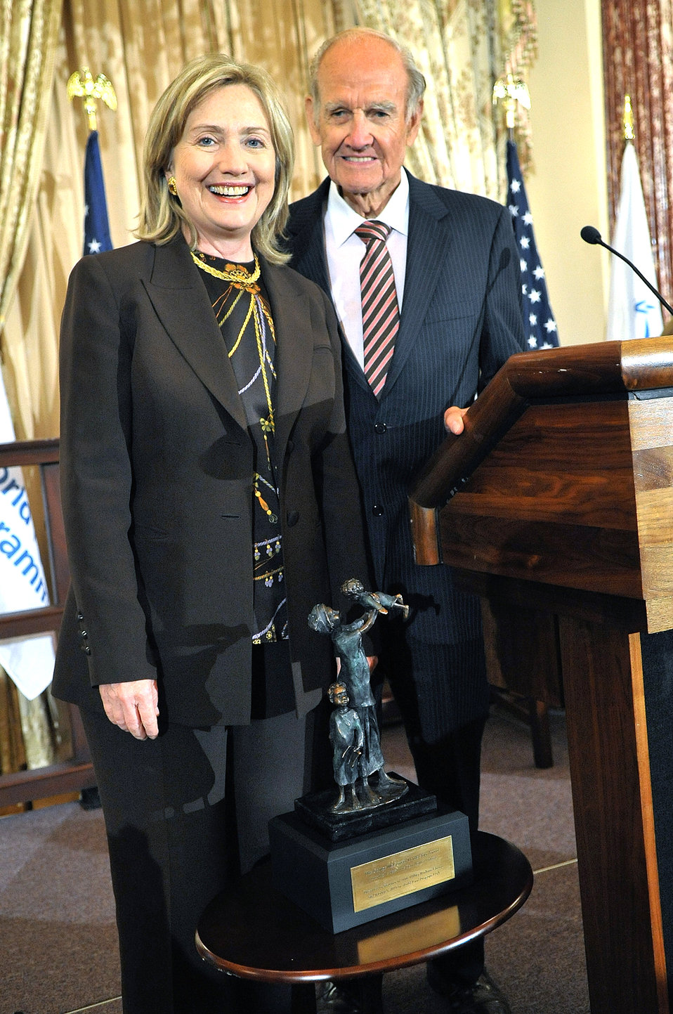 Secretary Clinton Accepts the McGovern Award for 'Leadership in the Fight Against Hunger'