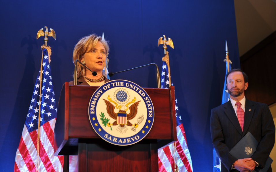 Secretary Clinton Delivers Remarks at the Opening of the New Embassy Compound Ceremony