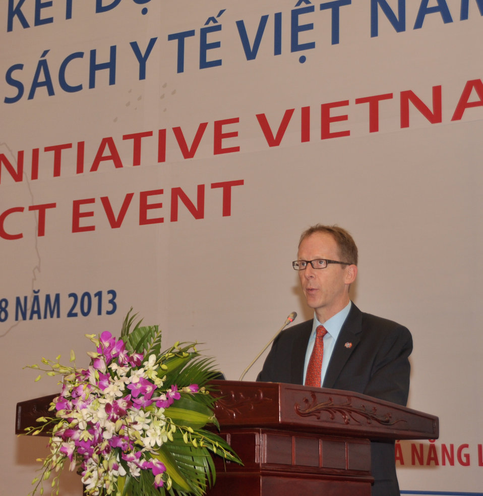 USAID Vietnam Mission Director Joakim Parker Addresses USAID Health Policy Initiative End of Project Workshop