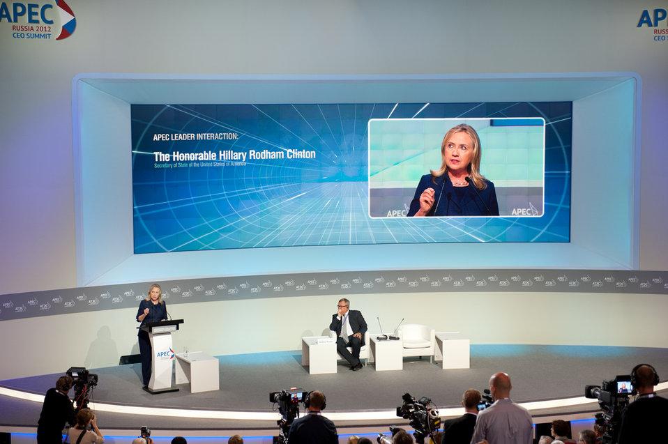 Secretary Clinton Speaks at the APEC CEO Summit