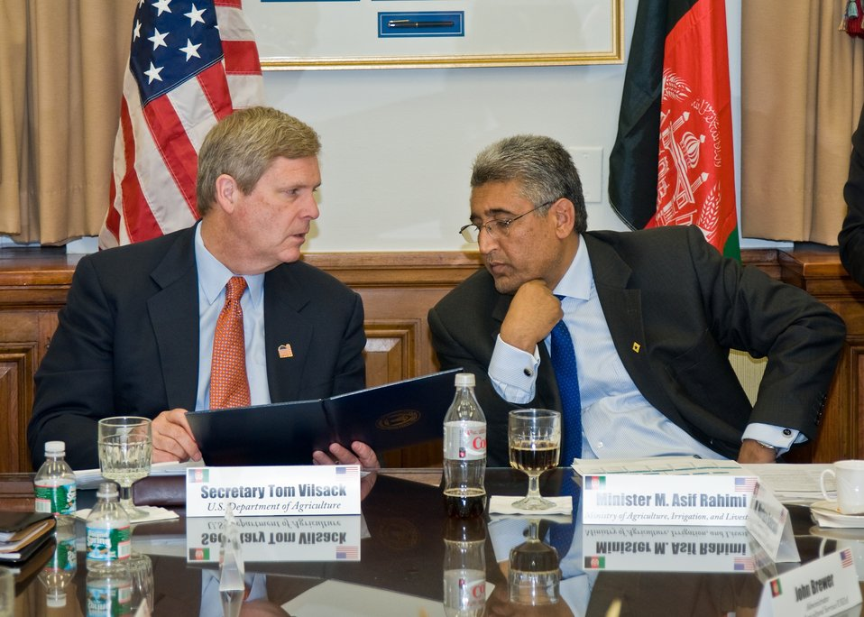 Agriculture and Rural Development Interagency Working Group Session of the U.S.-Afghanistan Strategic Partnership Dialogue