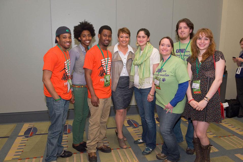 April, 2011 EPA 'ecoAmbassadors' stand with Administrator Jackson