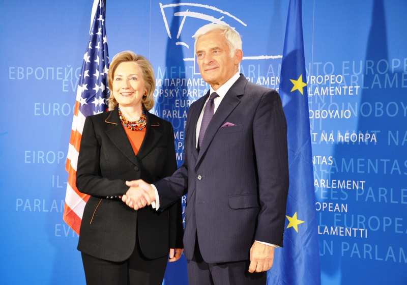 Secretary Clinton Meets With European Parliament President Buzek