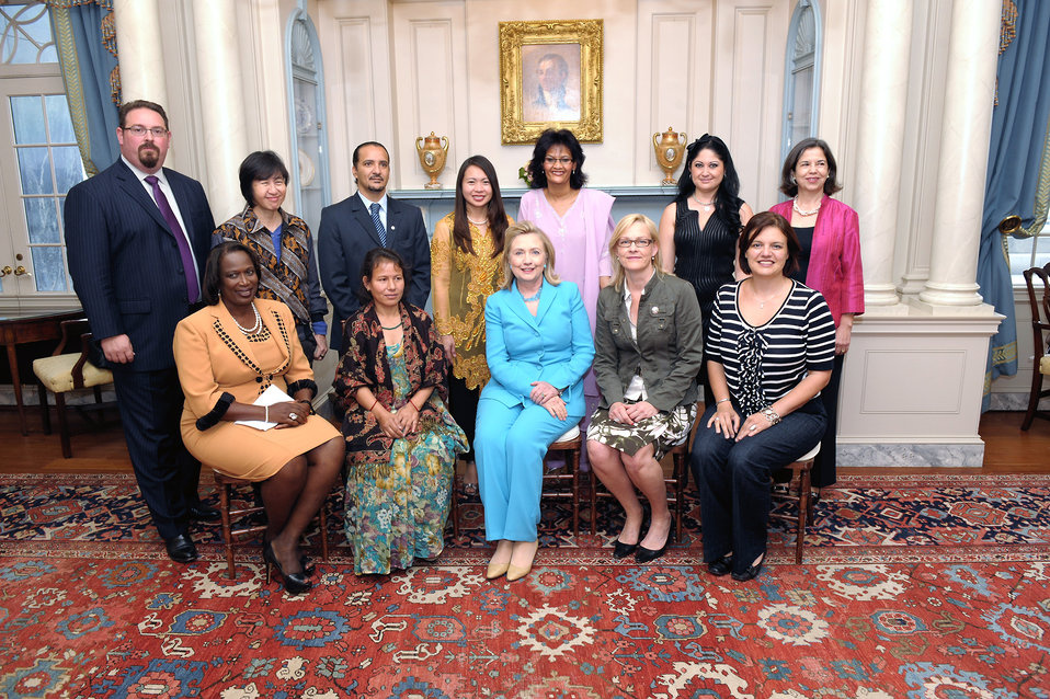 Secretary Clinton Meets With Trafficking in Persons Heroes