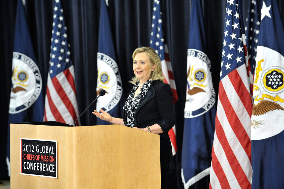 Secretary Clinton Addresses the 2012 Chiefs of Mission Conference
