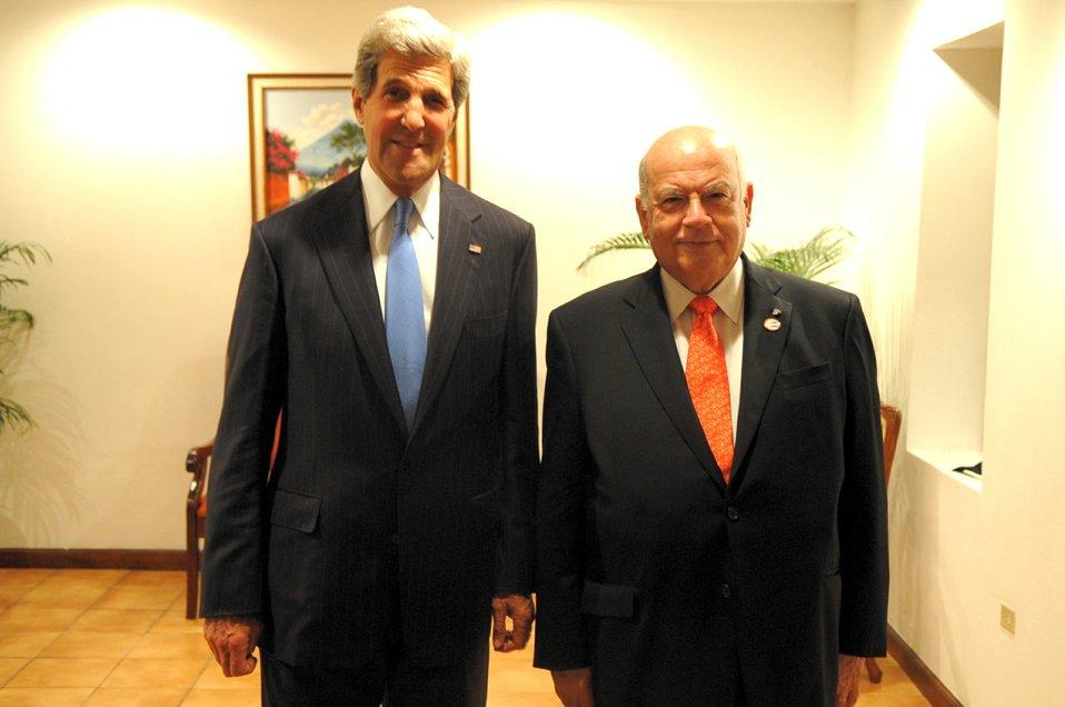 Secretary Kerry Meets With OAS Secretary General Insulza