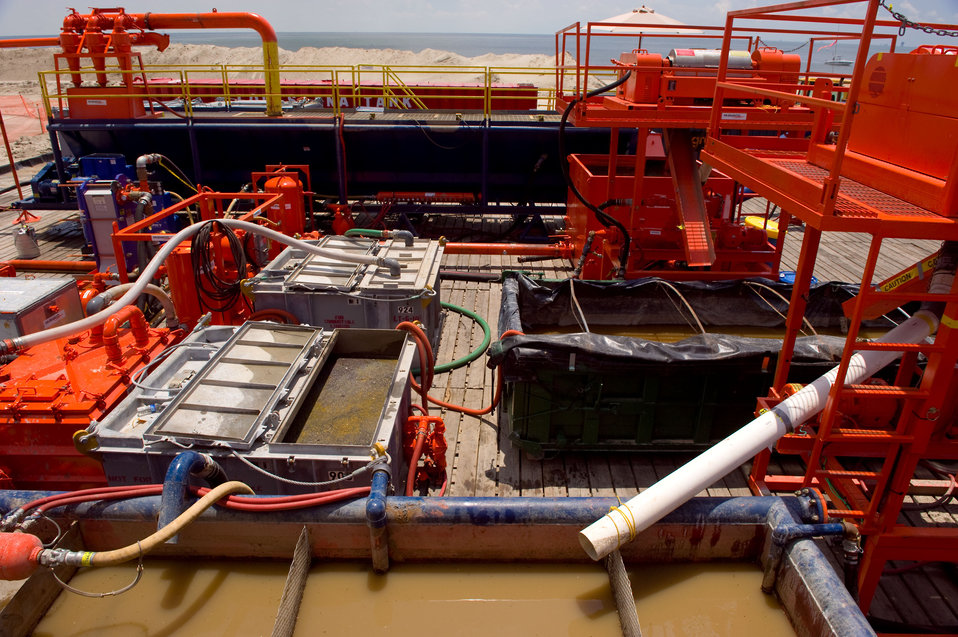 August 7, Another view of the sand washing process