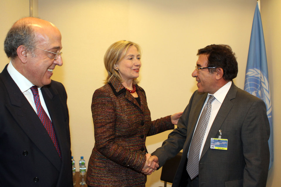 Secretary Clinton Meets With Tunisian Secretary Nouicer