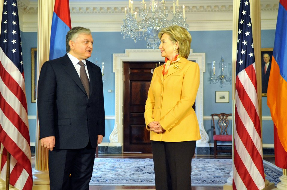 Secretary Clinton Meets With Armenian Foreign Minister