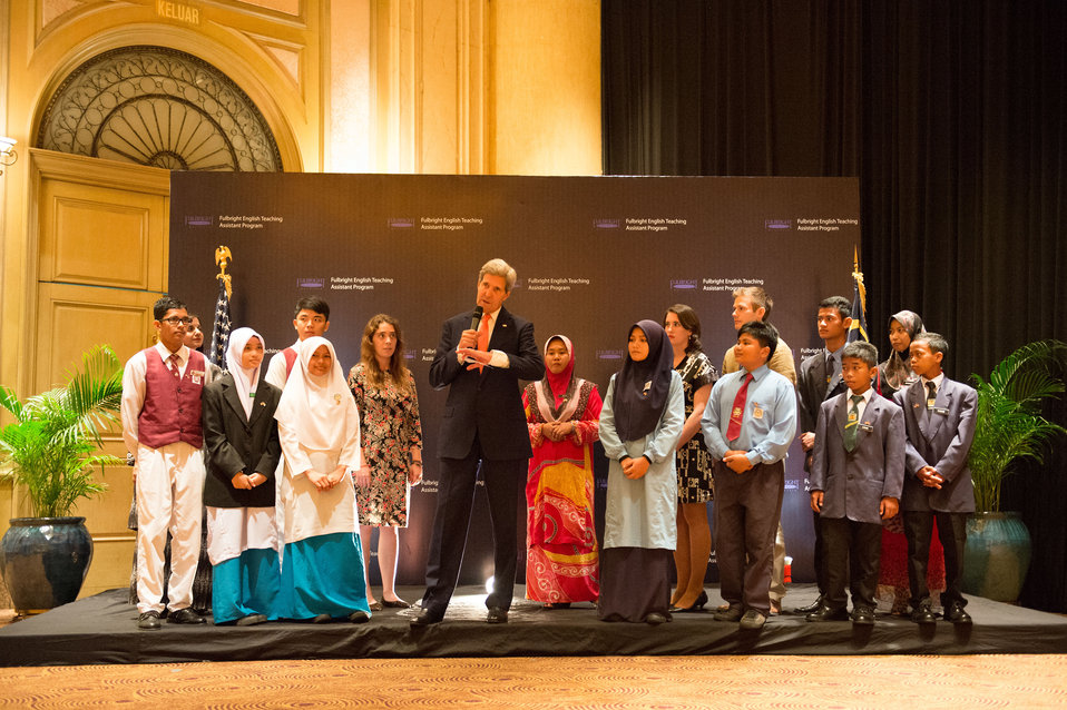 Secretary Kerry Participates in a Fulbright English Teaching Assistants and Students Event