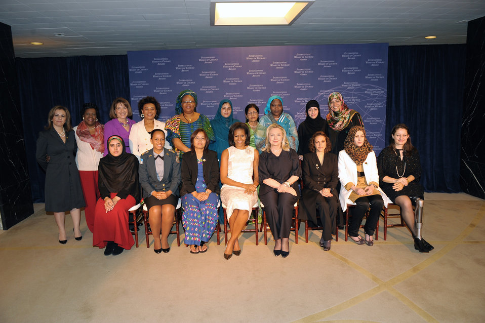 Secretary Clinton and First Lady Obama With 2012 IWOC Award Winners