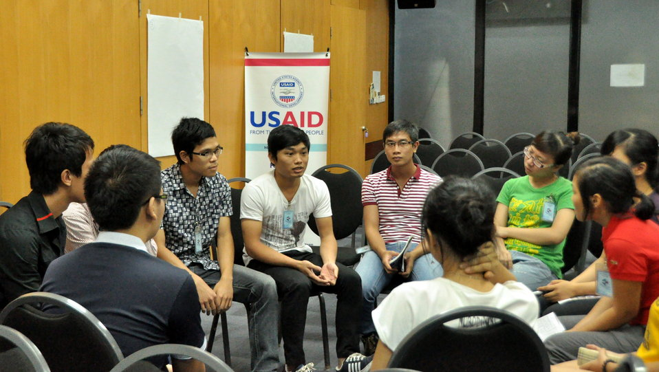 International Youth Day 2013: USAID hosts a lively discussion and group exercise on how youth can join in to advance development