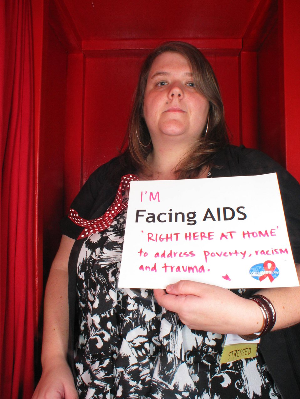 I'm Facing AIDS right here at home to address poverty, racism and trauma.